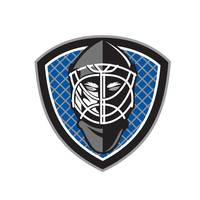 Ice Hockey Goalie Helmet Crest Retro
