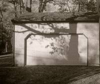shadow on the garage photographic painting