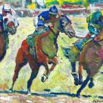 At The Horse Races Del Mar California by RD Riccoboni