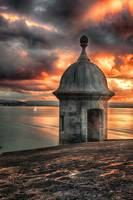 San Juan Bay Sunset with a Sentry Post