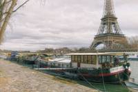 Eiffel Tower and Seine Boats