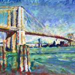 New York - Brooklyn Bridge Afternoon in the City by RD Riccoboni