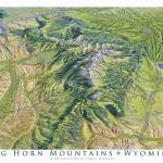 """Big Horn Mountains, Wyoming"" by jamesniehuesmaps"