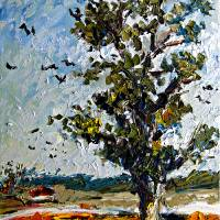"""Impressionist Tree Summer Landscape"" by GinetteCallaway"