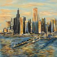 """""""chicago cityscape"""" by Kozyuk"""