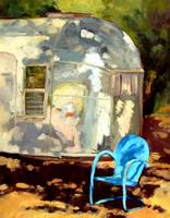 Airstream and Chair