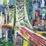 New York Ed Koch - Queensboro Bridge Abstract  by RD Riccoboni