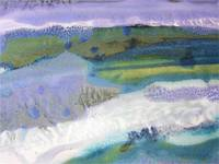 30. Rectangle Blue Purple Landscape Abstract