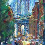 Manhattan Bridge Dumbo Brooklyn New York City by RD Riccoboni