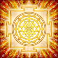 """Sri Yantra - Artwork Light"" by dcz"