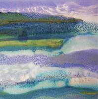 29. v2 Square Purple Blue Landscape Abstract