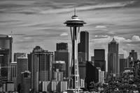 Seattle Skyline in B&W by Kirt Tisdale