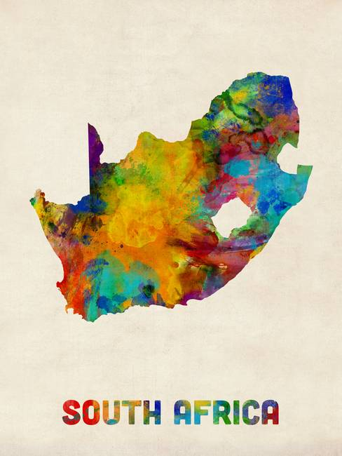 Map Of Africa Art.Stunning Map Of South Africa Artwork For Sale On Fine Art Prints