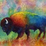 """American Buffalo 6"" by HaileyWatermedia"