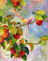 Birds on Apple Tree