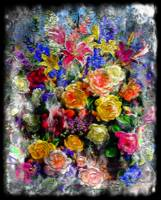 17a Abstract Floral Painting Digital Expressionism