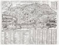 Vintage Map of Rome Italy (1721) 2