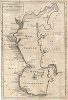 Vintage Map of The Caspian Sea (1730)
