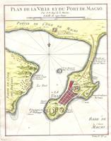 Vintage Map of Macau China (1750)