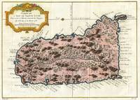 Vintage Map of Saint Lucia (1758)