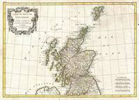 Vintage Map of Scotland (1772)