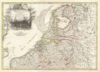 Vintage Map of Holland and Belgium (1775)