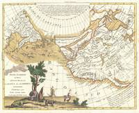 Vintage Western North America & Pacific Ocean Map