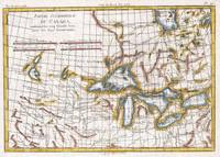 Vintage Map of The Great Lakes & Canada (1780)