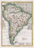 Vintage Map of South America (1780)