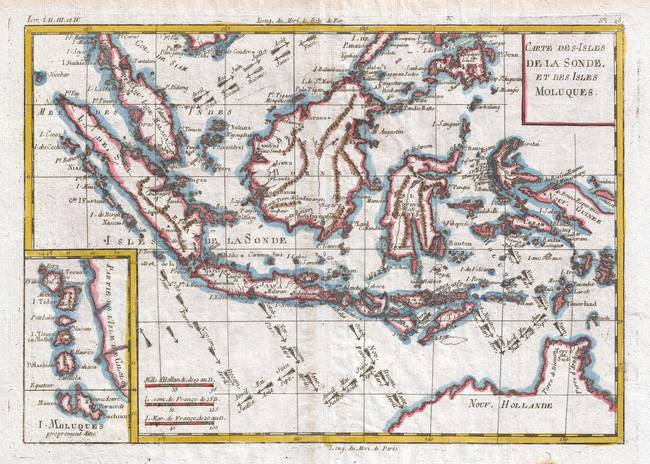Stunning indonesia map artwork for sale on fine art prints vintage map of indonesia 1780 by alleycatshirts gumiabroncs Gallery