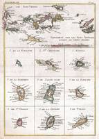 Vintage Islands of The Caribbean Map (1780)