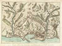 Vintage Map of Genoa Italy (1800)
