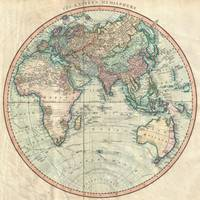 Vintage Map of The Eastern Hemisphere (1801)