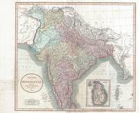 Vintage Map of India (1806)