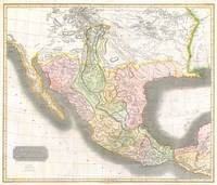 Vintage Map of Mexico (1814)