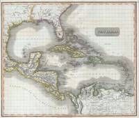 Vintage Map of The Caribbean (1814)