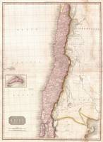 Vintage Map of Chile (1818)