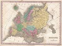 Vintage Map of Europe (1827)