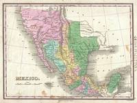 Vintage Map of Mexico (1827)