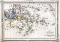 Vintage Map of Oceania (1852)
