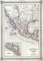 Vintage Map of Mexico (1852)