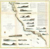 Vintage Map of The U.S. West Coast (1853)