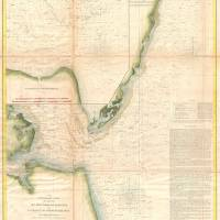 """Vintage Map of The Chesapeake Bay Entrance (1855)"" by Alleycatshirts"