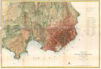 Vintage Map of San Francisco California (1858)