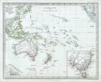 Vintage Map of Oceania (1862)