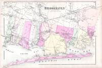 Vintage Brookhaven and Fire Island NY Map (1873)