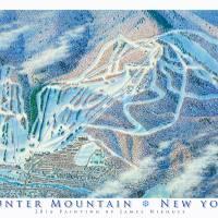 """Hunter Mountain, New York"" by jamesniehuesmaps"