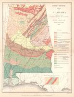 Vintage Agricultural Map of Alabama (1882)