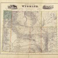 """Vintage Map of Wyoming (1883)"" by Alleycatshirts"