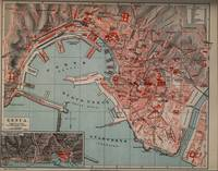 Vintage Map of Genoa Italy (1894)